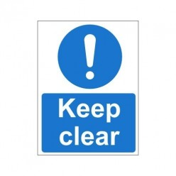 Keep Clear Non Slip Floor Sign