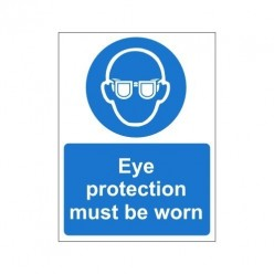 Eye Protection Must Be Worn Non Sip Floor Sign