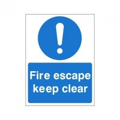 Fire Escape Keep Clear Non Slip Floor Sign