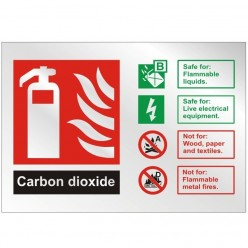 Prestige Carbon Doxide Sign 150 x 100mm