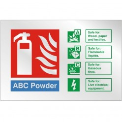 Prestige ABC Powder Sign 150 x 100mm