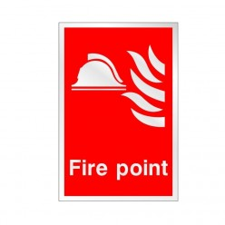 Prestige Fire Point Sign 150 x 200mm