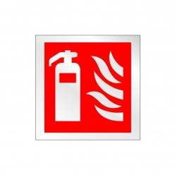 Prestige Fire Extinguisher Sign 100 x 100mm