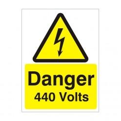 Danger 440 Volts Electrical Sign