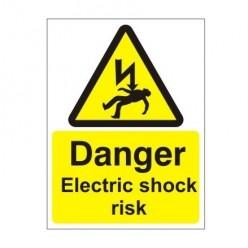 Danger Electric Shock Risk Electrical Sign