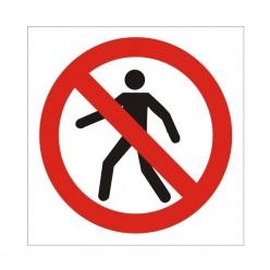 No Pedestrians Symbol Sign