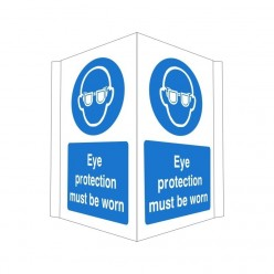Eye Protection Must Be Worn Projecting Sign