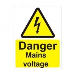 Danger Mains Voltage Electrical Sign