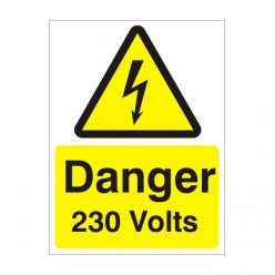 Danger 230 Volts Electrical Sign
