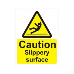 Caution Slippery Surface Non Slip Floor Sign