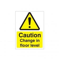 Caution Change In Floor...