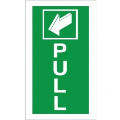 Pull Instruction Sign - 100mm x 200mm