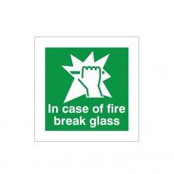 In Case Of Fire Break Glass...