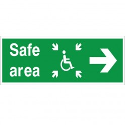 Refuge Safe Area Sign