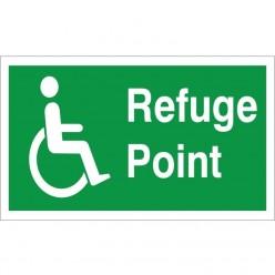Refuge Point Sign - 300mm x 150mm