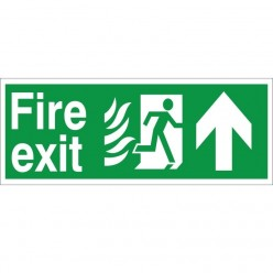 Hospital Compliant Fire Exit Up Sign