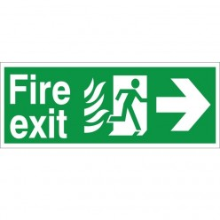 Hospital Compliant Fire Exit Right Sign