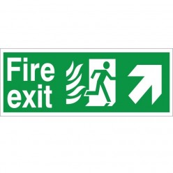 Hospital Compliant Fire Exit Up Right Sign