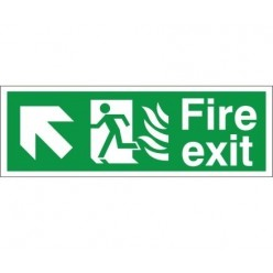 Hospital Compliant Fire Exit Up Left Sign
