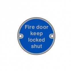 Fire Door Keep Locked Shut...