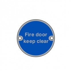 Fire Door Keep Clear...