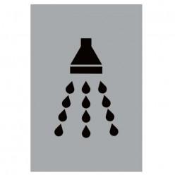 Shower Aluminium Door Sign