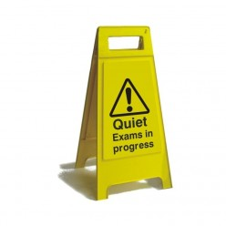 Quiet Exams In Progress Free Standing Sign 600mm