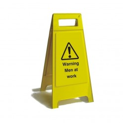 Warning Men At Work Free Standing Sign 600mm
