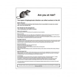 Leptospirosis - Are You At Risk? Poster