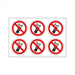 No Mobile Phones Label