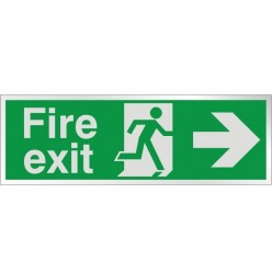 Prestige Fire Exit Arrow Right Sign
