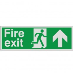 Prestige Fire Exit Arrow Up Sign