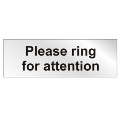 Prestige Please Ring For Attention Sign