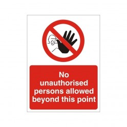 No Unauthorised Persons Allowed Beyond This Point Non Slip Floor Sign