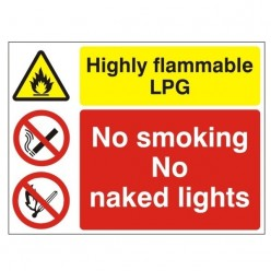 Highly Flammable LPG No...