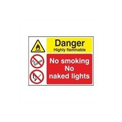 Danger Highly Flammable Multi Purpose Sign