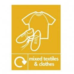 Mixed Textiles And Clothes Recycling Sign