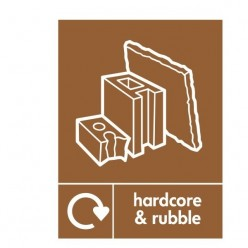 Hardcore And Rubble Recycling Sign