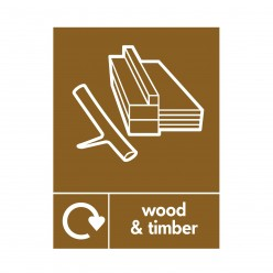 Wood And Timber Recycling Sign