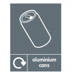 Aluminium Cans Recycling Sign