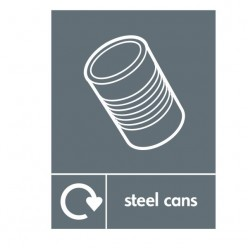 Steel Cans Recycling Sign