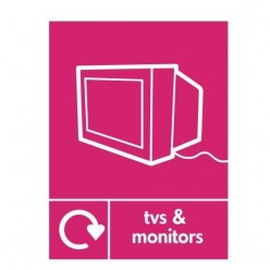 TV's And Monitors Recycling Sign