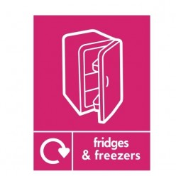 Fridges And Freezers Recycling Sign