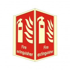 Photoluminescent Fire Extinguisher Projecting Sign Sign