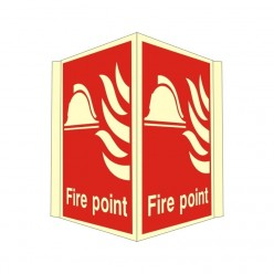 Photoluminescent Fire Point Projecting Sign