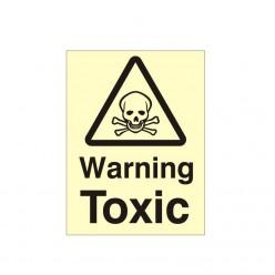 Warning Toxic Photoluminescent Sign