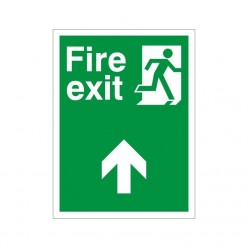 Fire Exit Up Non Slip Floor Sign