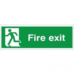 Fire Exit Man Running Left...
