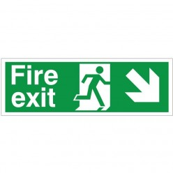 Fire Exit Arrow Down Right...