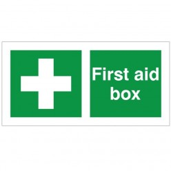 First Aid Box With Symbol Sign - 200mm x 100mm